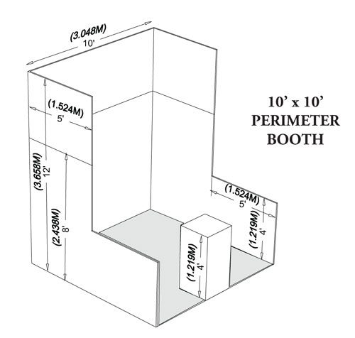 Booth Sizes For Exhibition : Booth info hinman